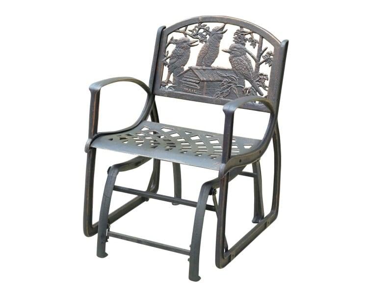 Cast Iron Glider Chair-Kookaburra