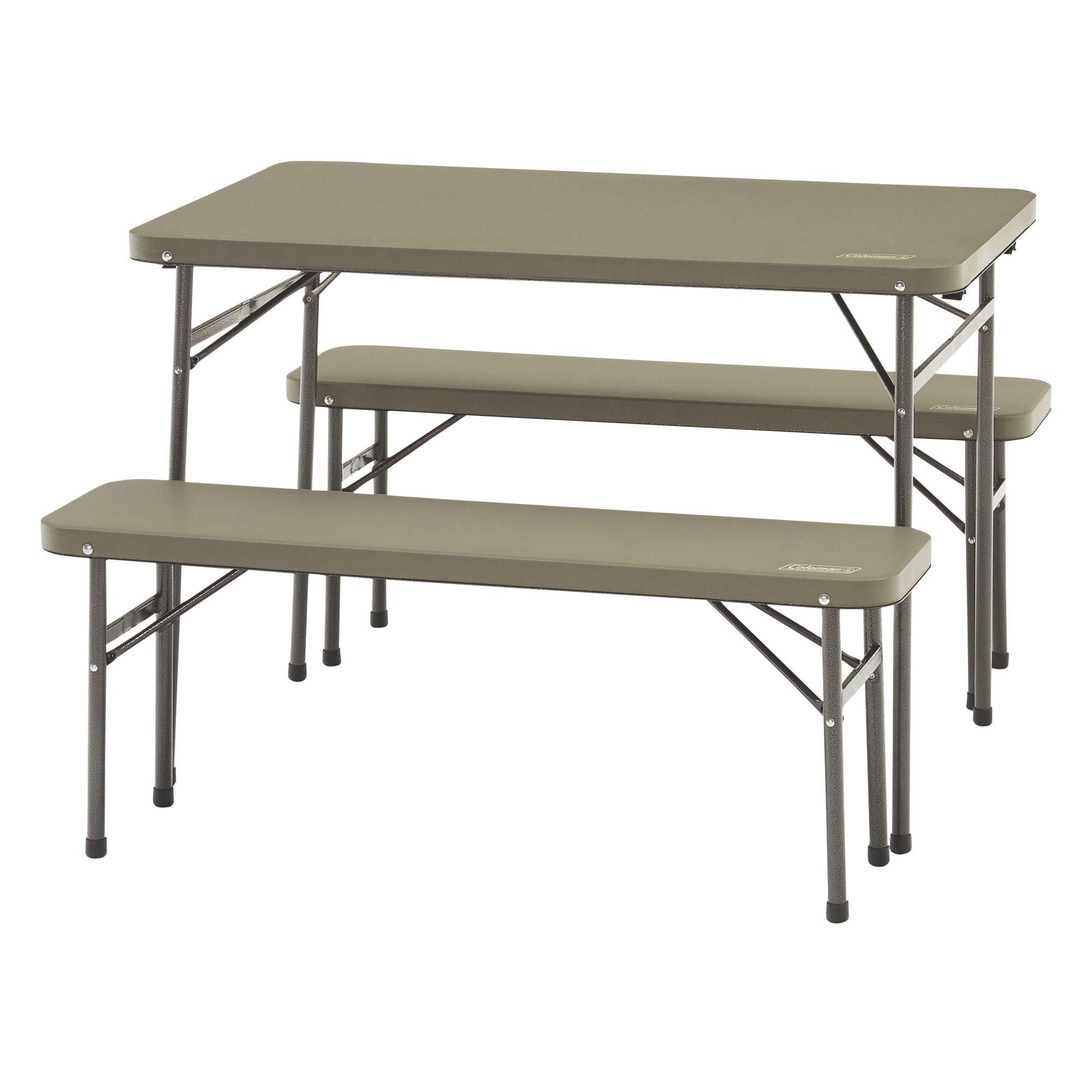 PACK-AWAY TABLE AND BENCH- 3 PIECE SET