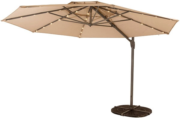 Windemere LED Cantilever Umbrella