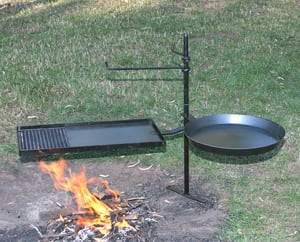 cooking stand over fire