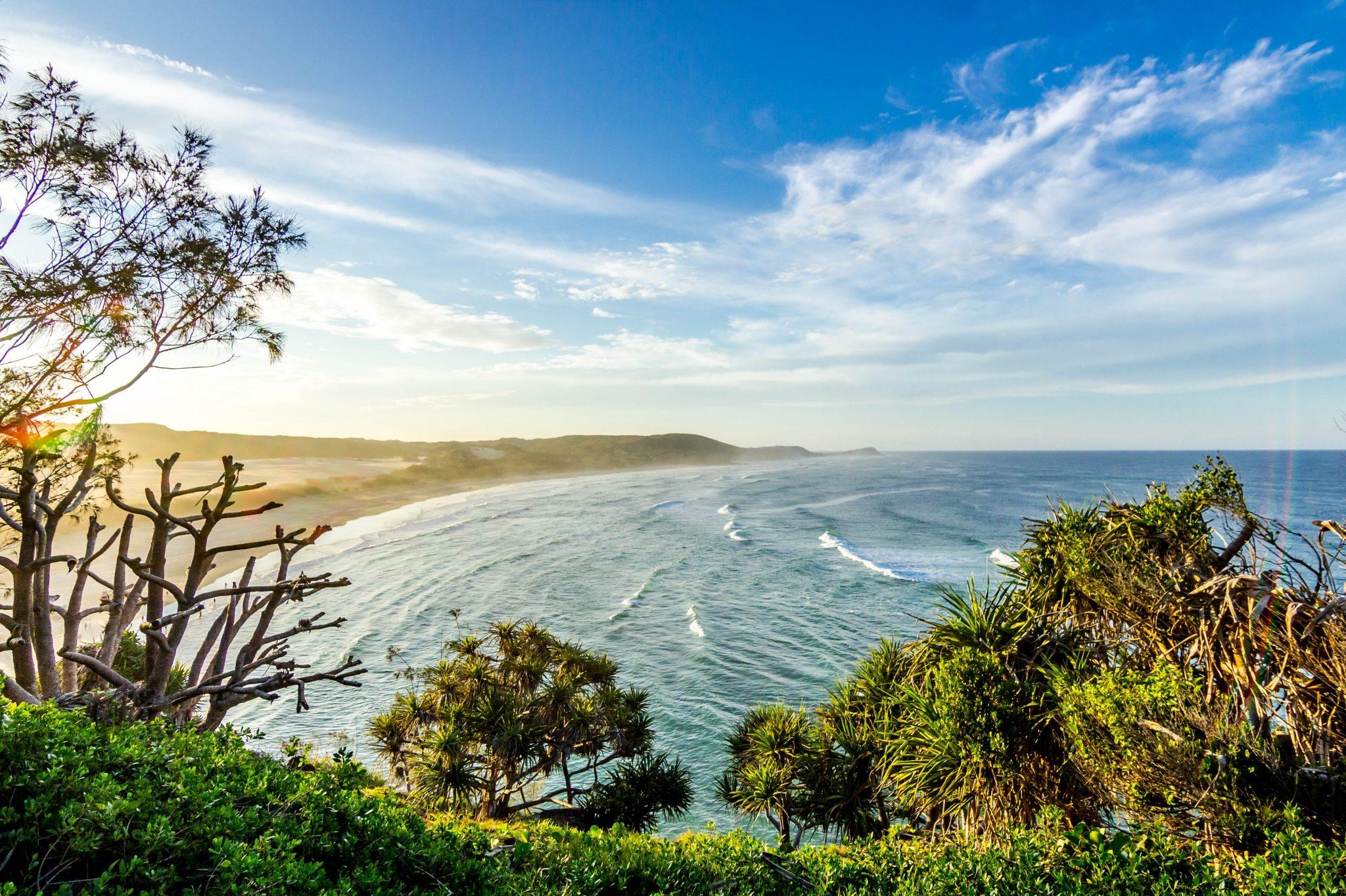 Australian Outback Ocean beach trees